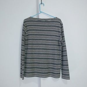 J.jill woven knit boat neck cotton rayon polyester